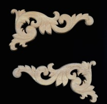 Decal Carving 8PCS/LOT12x6x0.7cm Trim