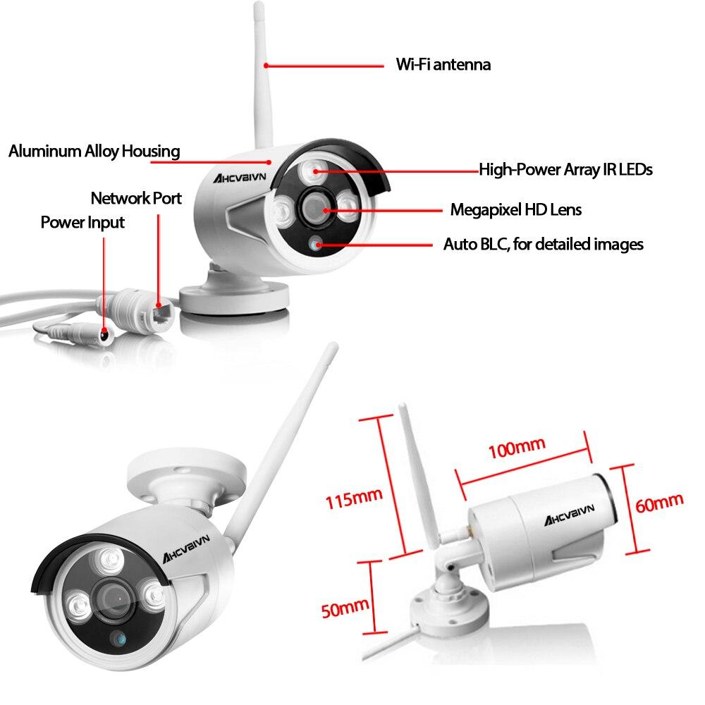 Home Security Kamera CCTV-System Drahtlose DVR 4CH IP CCTV Kit HD 960 P P2P IR Nachtsicht Plug & Play Videoüberwachung Wifi Kit