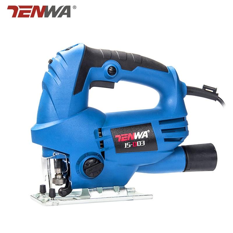 TENWA 220V 710W 450W Jig Saw 4 Orbital Settings Tool Free Release Blade Infrared Laser Electric Jigsaw Wood Reciprocating Saw