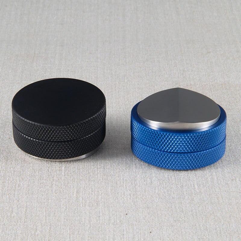 Coffee Tamper 58.35mm Stainless Steel Convex Base Adjustable Grip Handle Bean Barista Espresso Tamper Palm Pressure Kitchen Tool