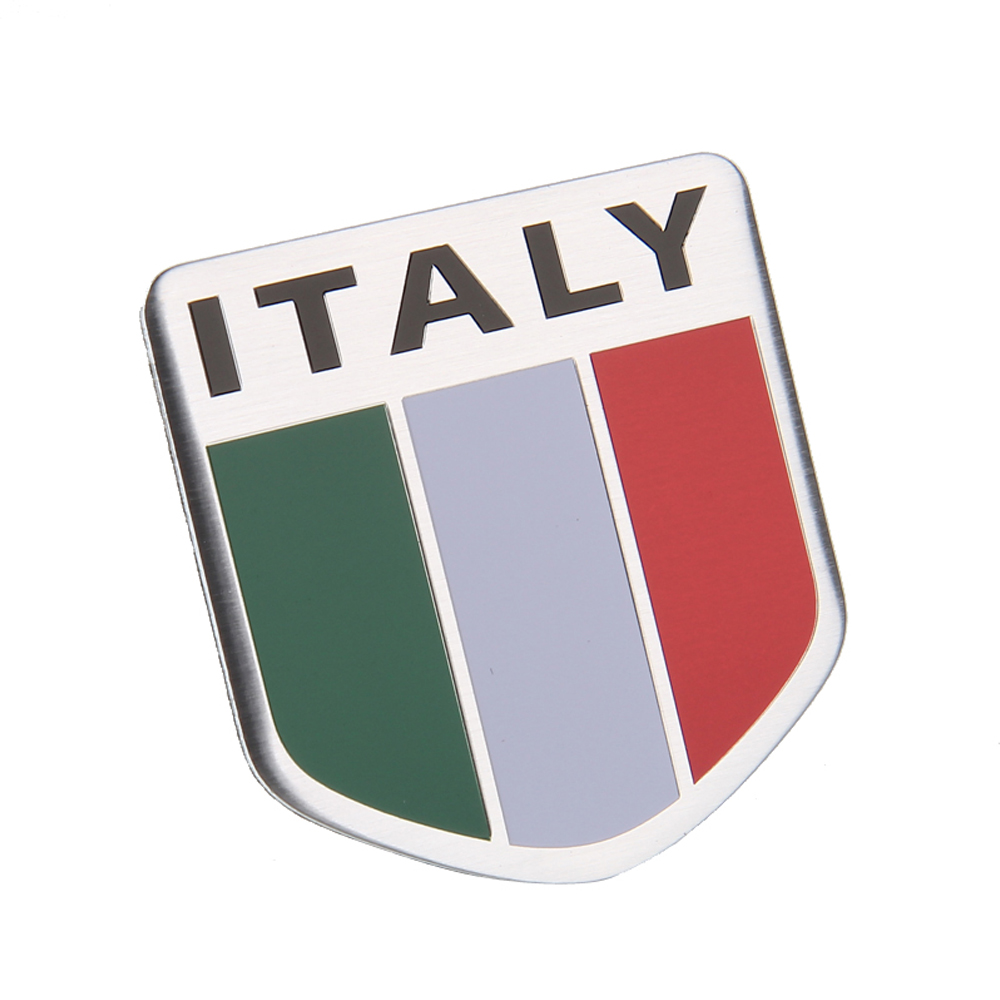Pack of 8 Small Italian Flag Car Decal