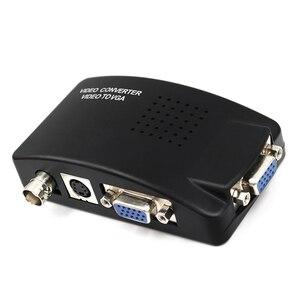 Image 2 - BNC S Video VGA to VGA 컨버터 박스 PC to TV VGA 입력 VGA 출력 PC 용 디지털 스위치 박스 MACTV 카메라 DVD DVR