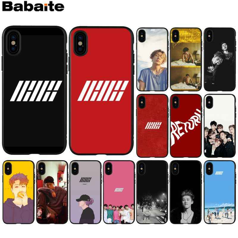 IKON Babaite kpop Bobby B.I. TPU Silicone Suave Phone Case Capa para iPhone 5 8 7 6 6S Plus 5S SE XR X XS MAX Coque Shell