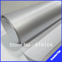 ROHS Certificate 1 52X30M Air Free Bubbles With Channel Silver Brush Aluminum Carbon Vinyl Rolls Of