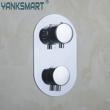 Bathroom Torneira Thermostat Control Valve Bathroom Round Mixing Valve Switch Wall Mount 5523 Bath/Shower Mixer Mixer Tap Faucet(China)
