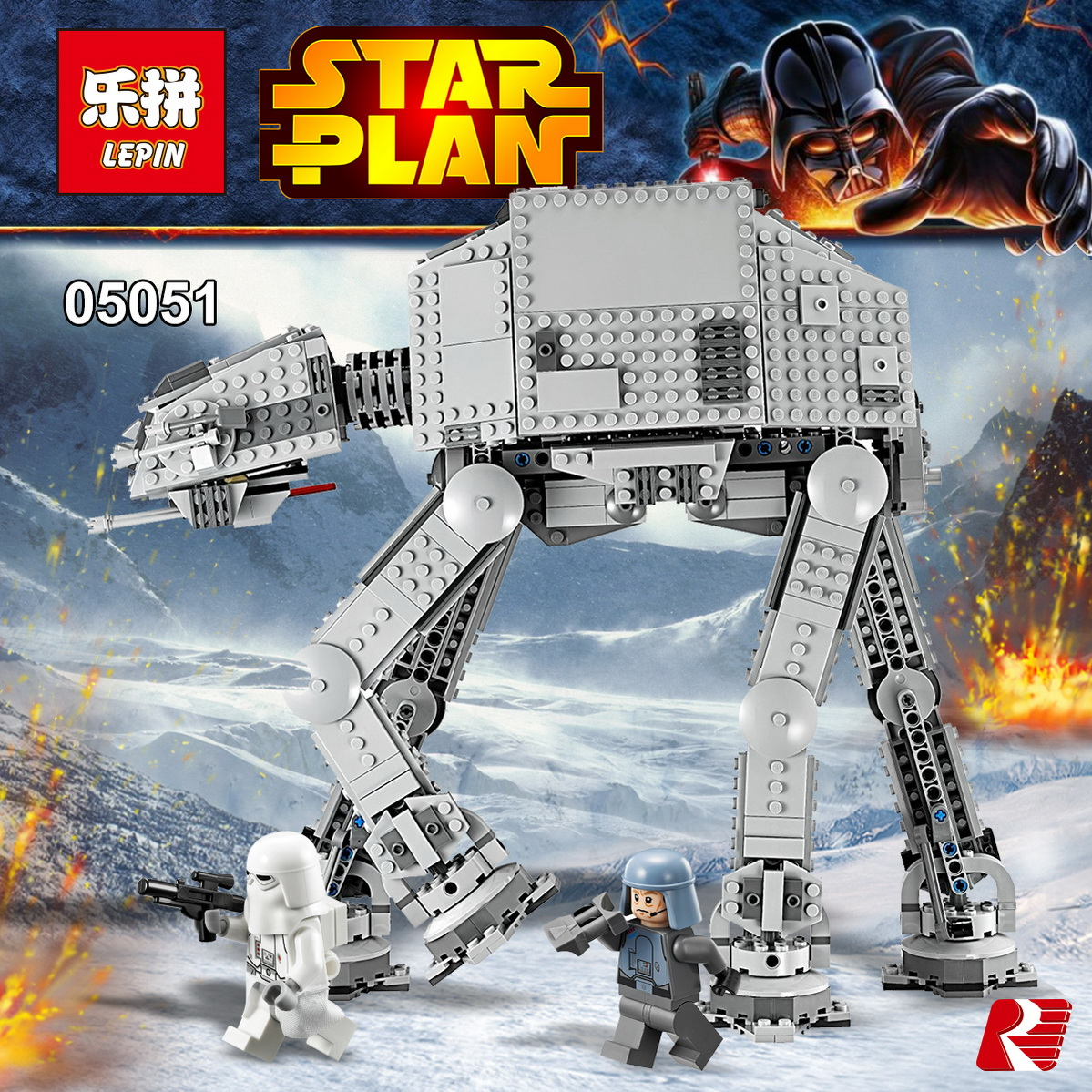 ФОТО Lepin 05051 Star War Series Force Awaken The AT-AT Transpotation Armored Robot 75054 Building Blocks Bricks Educational Toy