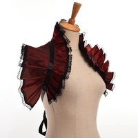 Steampunk Corset Crop Victorian Steampunk Women Ruffled Collar Shoulder Wrap Cosplay Accessory