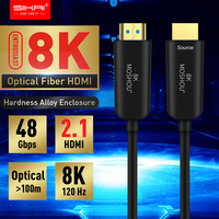 Optical Fiber HDMI 2.1 Cable Ultra HD (UHD) 8K Cable 120Hz 48Gbs with Audio Video MOSHOU HDMI Cord HDR 4:4:4 Lossless amplifier