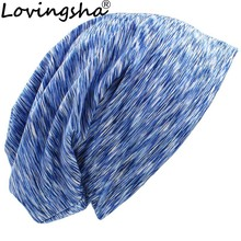 LOVINGSHA Autumn Winter Women Stripe Design Feminino Hats Me