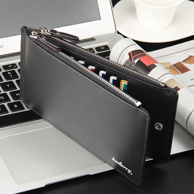 Large Capacity 16 Slots Card Holders Men Leather Wallet Famous Brand Bifold Money Purse Fashion Male Cash Coin Pocket Free Ship 1