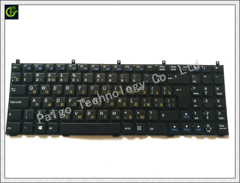 Russian Keyboard for Clevo W150HR P180HM S510 C5101 W251EL P510 DNS 0123975 PHILCO 15A SIM2000 RU Black