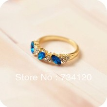 New Fashion Free shipping fashion jewelry wholesale Crystal ring three crystal ring Fashion Crystal Rings