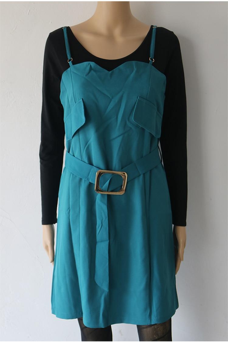 Autumn Business Suit Elegant Office Dress Lady Work 2 Pieces Set Long Sleeve Blazer and Sleeveless Dress Suit Set 42