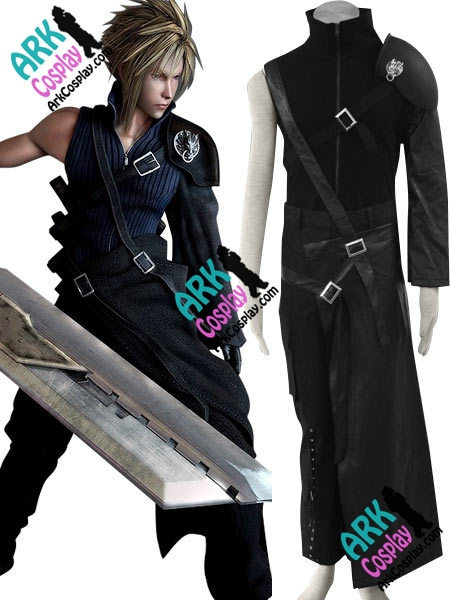Final Fantasy Cloud Cosplay Black Mens Final Fantasy Cosplay Costume