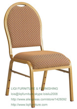 Atacado qualidade forte de alumínio empilhamento cadeiras de jantar LQ-L2021