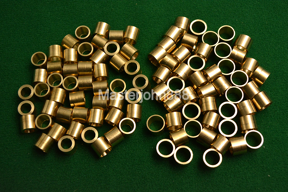 30pcs Pool Billiards Snooker Cue Tips 9/10mm Brass Ferrules Free Shipping Wholesales