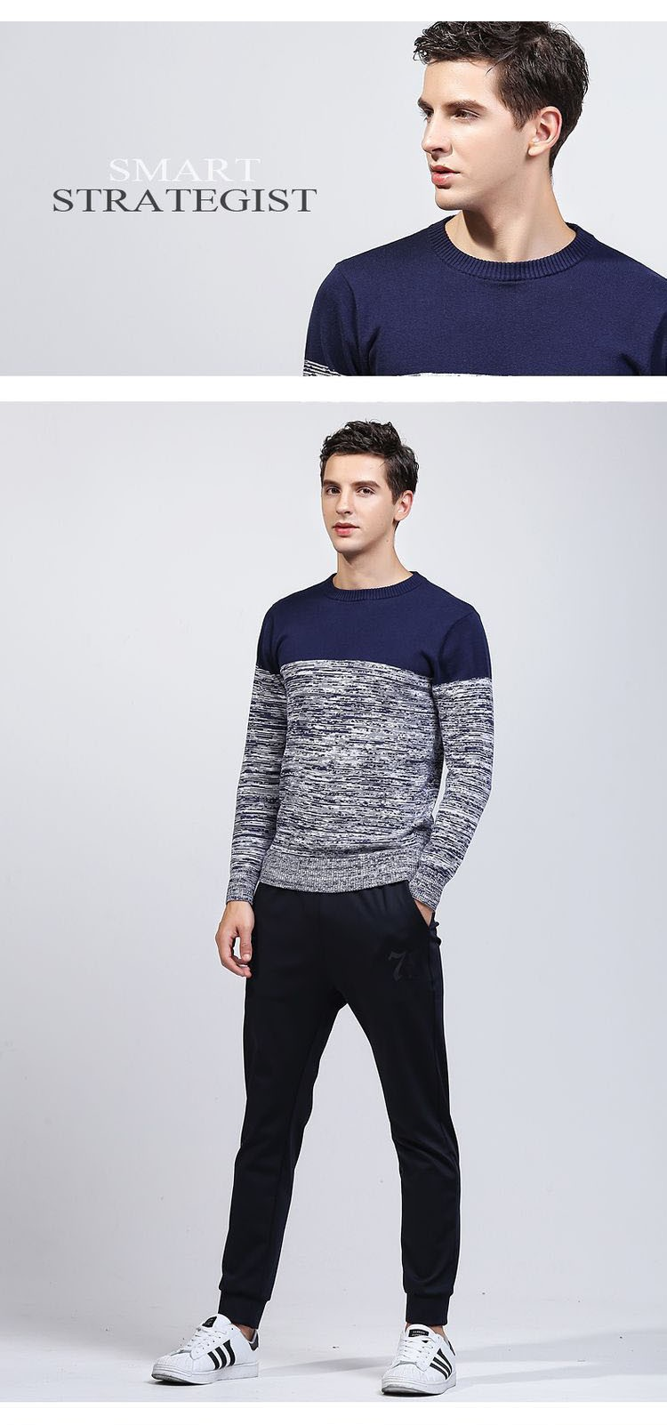 Aolamegs Men Sweater Fashion Hit Color Knitted Pullovers 2017 Spring New Men\'s Classic Casual Slim Fit Knitting Sweter Hombre (5)