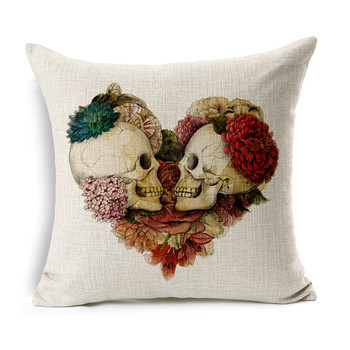 Mexican Sugar Skull Cushion 1