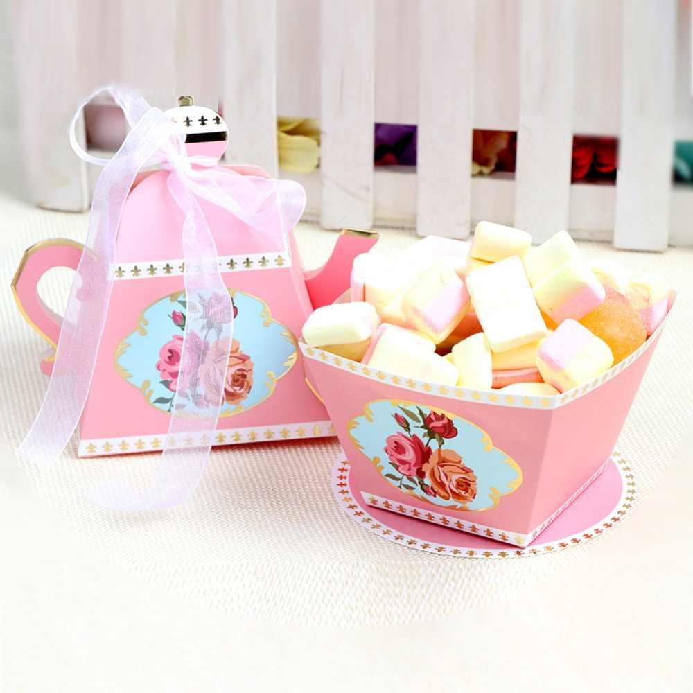 Bolsas de caja de regalo de caramelos de papel caliente bolsas de postre de fruta de piña regalos de bebé Favor de fiesta para la Decoración de cumpleaños de la boda de invitados