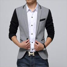 2018 fall clothing new arrival men's suit business and leisure suit Korean Slim spell color plus fertilizer XL blazers man must