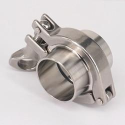 Набор 38 мм трубы O/D санитарно 1,5 тройной зажим сварной наконечник + тройной зажим + силиконовая прокладка 304 нержавеющая сталь для домашнего ...