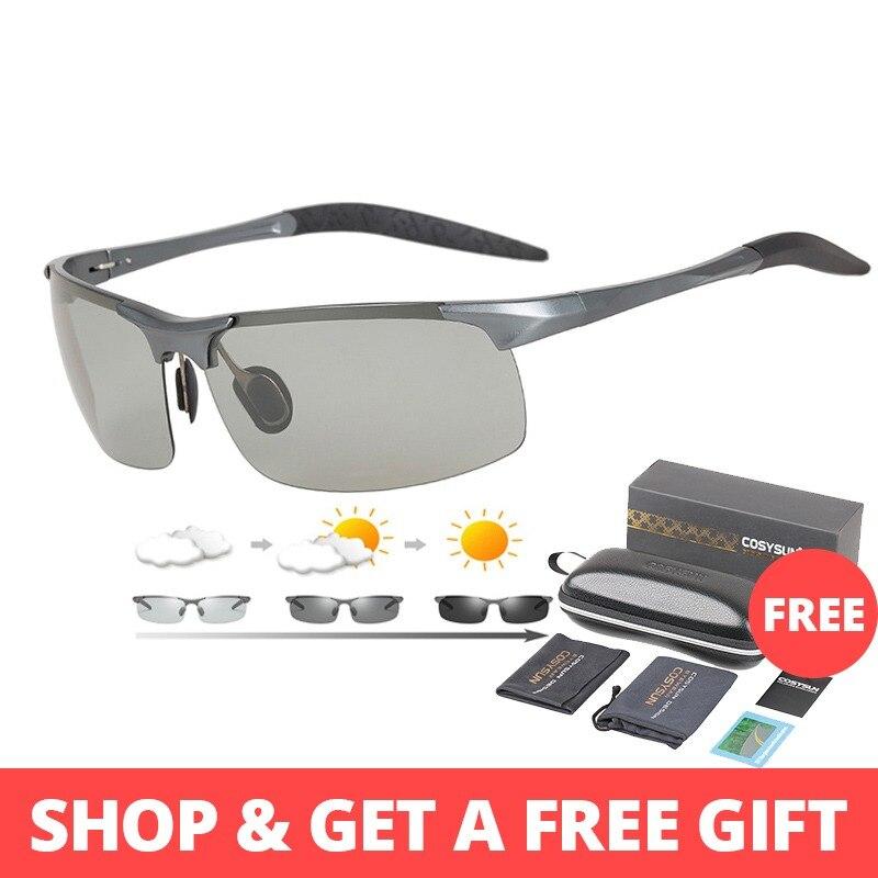ef9477bd94989d Merk Fotochrome Bril Mannen Aluminium Magnesium Rijden Zonnebril Mannen  Gepolariseerde Chamelen Goggles Voor Auto Rijden Anti