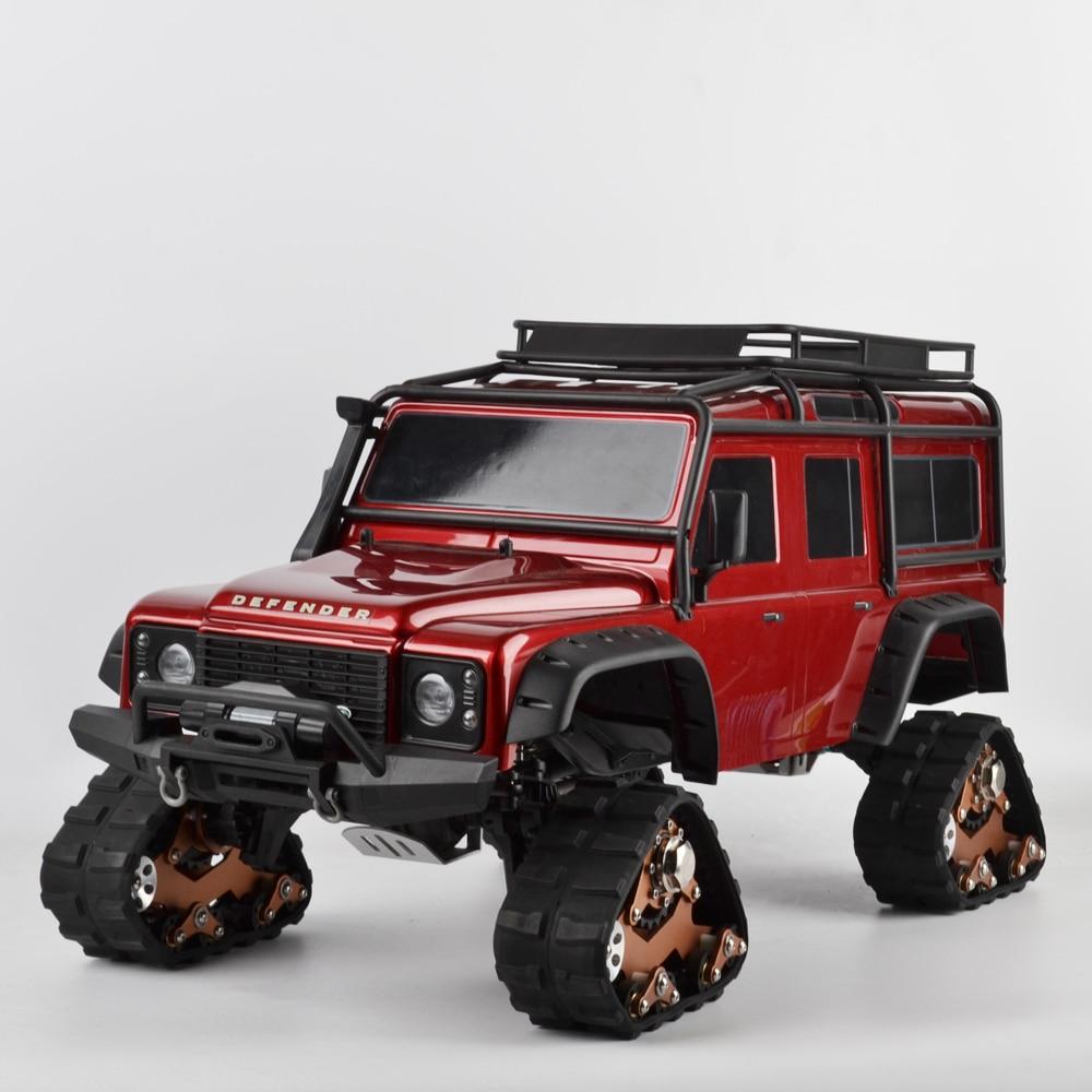 купить 4PCS 1/10 TRX4 Tracks Wheel Sandmobile Conversion Snow Tire for 1/10 RC Traxxas Trx4 TRX-4 Upgrade Parts TRX4 Accessories по цене 13598.82 рублей