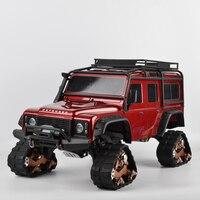4PCS TRX4 Tracks Wheel Sandmobile Conversion Snow Tire for 1/10 RC Traxxas Trx4 TRX 4 Upgrade Parts TRX4 Accessories