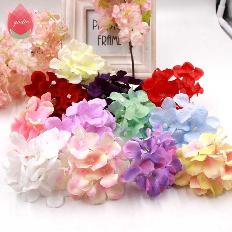 1pcs High-Quality Hydrangea Artificial Flowers For Bride Wedding Home Party Room Decoration DIY Scrapbooking Craft Fake Flowers
