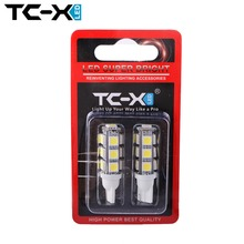 2X 13SMD T10 W5W LED Car Light Bulb High Quality Auto Side 13 SMD Wedge Dome Lamp 5050 194 168 192 Cold White Lighting Wholesale