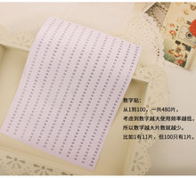 oneroom Available DMC Floss Thread Number Sticker Cross Stitch Embroidery Floss Thread Tool #8211 Available tanie tanio XIANGYUANWU S SHOP-ZBYXZ Embroidery Floss Number Stickers 100 COTTON PAPER BAG European and American Style Folded 0 1kg (0 22lb )