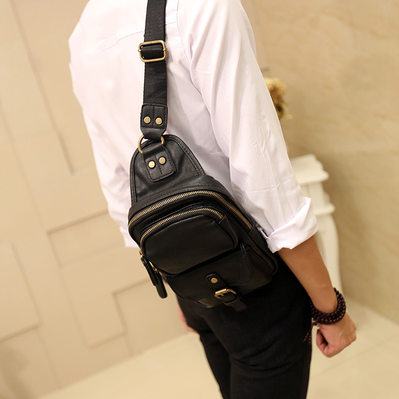 Aliexpress.com : Buy Quality PU chest bag men sling bag travel ...
