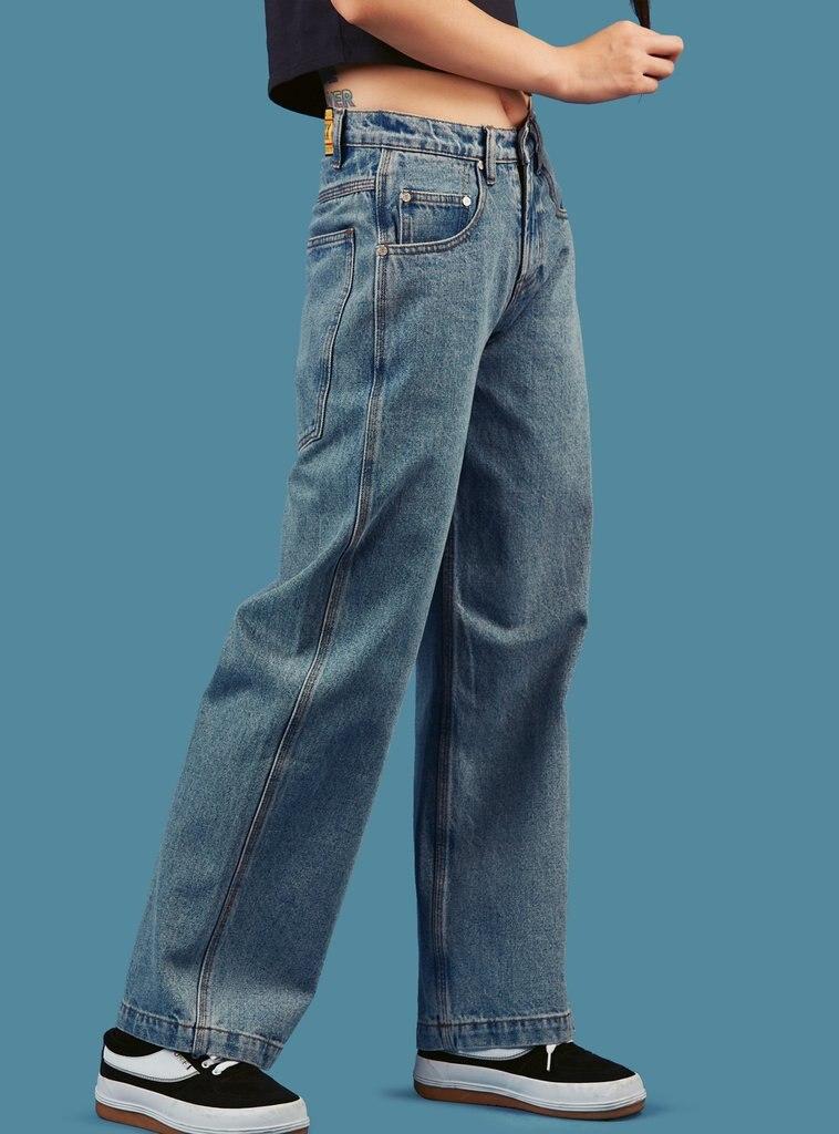 Vaqueros Nuevo Logo Lavado Hiphop Mujer Holgados Pantalones Y Recto Vintage Estilo Con Para Bleached Azul Novio Blanqueado 2018 De Calle PBdqPR
