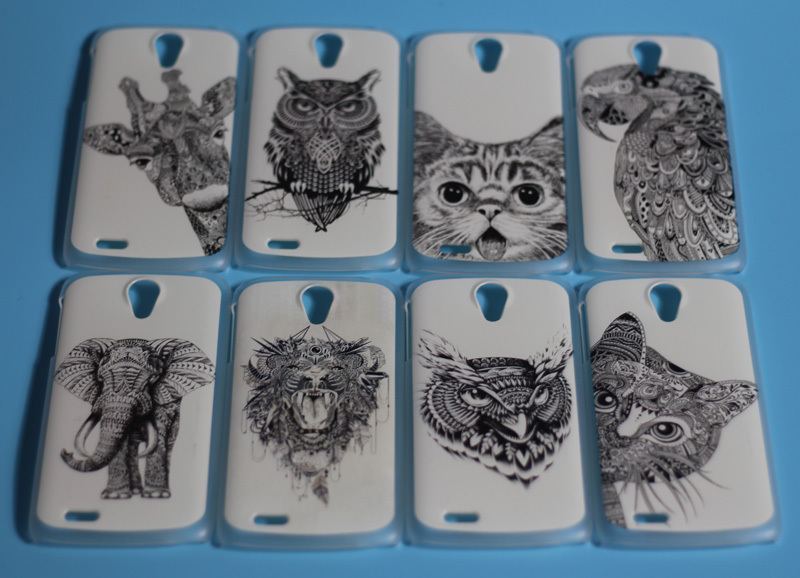 Cover Fai Da Te.Us 1 54 21 Off Painting White And Black Animals Cellphone Cases Covers For Lenovo S820 Hard Cover S 820 Hood Shell Bags In Half Wrapped Case From