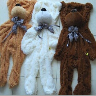 1pcs 100cm three colors big teddy bear skin coat plush toys stuffed toy baby birthday gifts Christmas