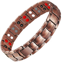 Drop Shipping Double Row 4 IN 1 Bio Elements Energy Magnetic Bracelet Men S Fashion Healing