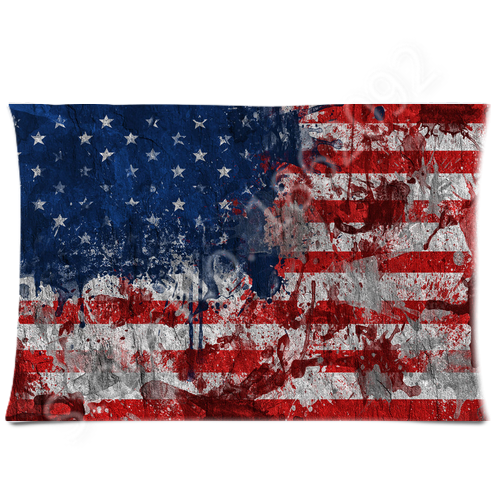 Well-liked American Flag Pillow Case Graffiti Art USA Flag Pillows Cover  TO01