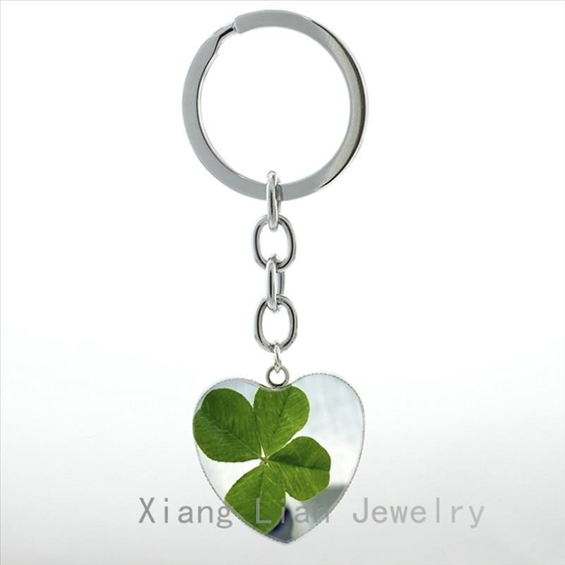 Lucky Irish Shamrock Metal Key Ring