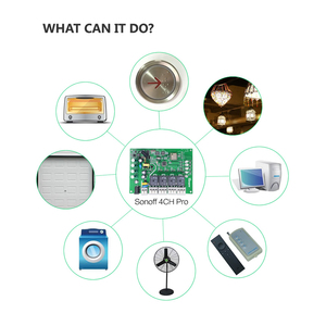 Image 4 - Itead sonoff 4ch pro r2 10a/gang 4 canais wifi interruptor inteligente 433mhz rf remoto wi fi interruptor de entrelaçar relé alexa