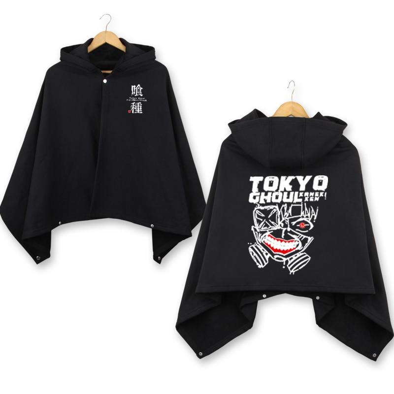 Tokyo Ghoul winter thicken Cloak Kaneki Ken Cape Coat men women warm hooded mantle anime Cosplay Costume