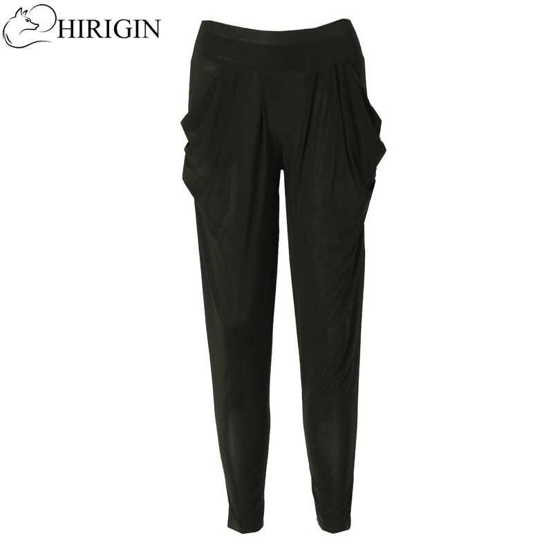 dbcfc117621 Hirigin Дамская мода Повседневное Гарем Багги Танец тренировочные штаны  Мотобрюки Слаксы Для женщин Штаны с высокой