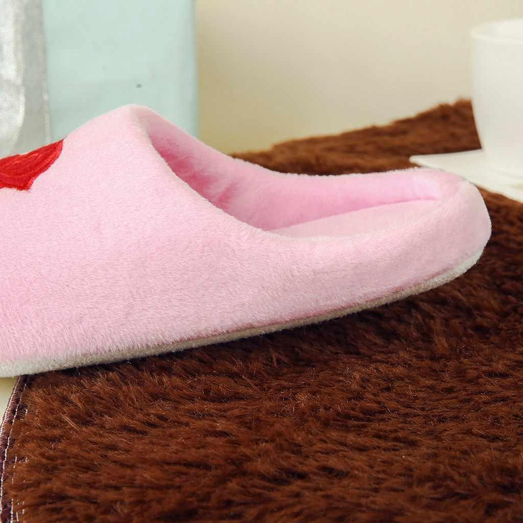 2019 Vrouwen Fur Slippers Herfst Winter Schoenen Big Size Home Slippers Pluche Pantufa Vrouwen Indoor Warme Pluizige Terlik Katoenen Schoenen