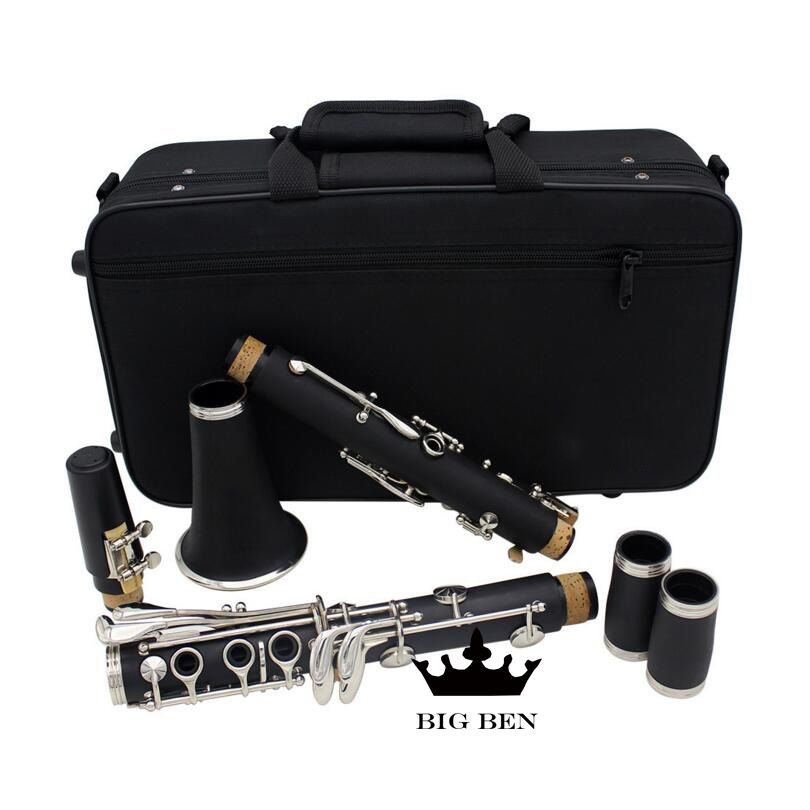 Freight free Bb 17 key black bakelite clarinet popularize clarinet wind instrument suitable for playing
