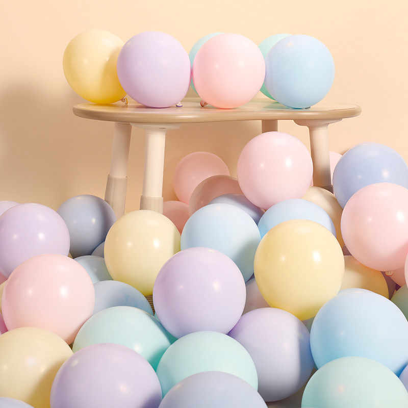 10pcs 12inch 2.2g Macaron White Latex Balloons Confetti Air Balls Inflatable Ball Helium Balloon Birthday Wedding Party Supplies