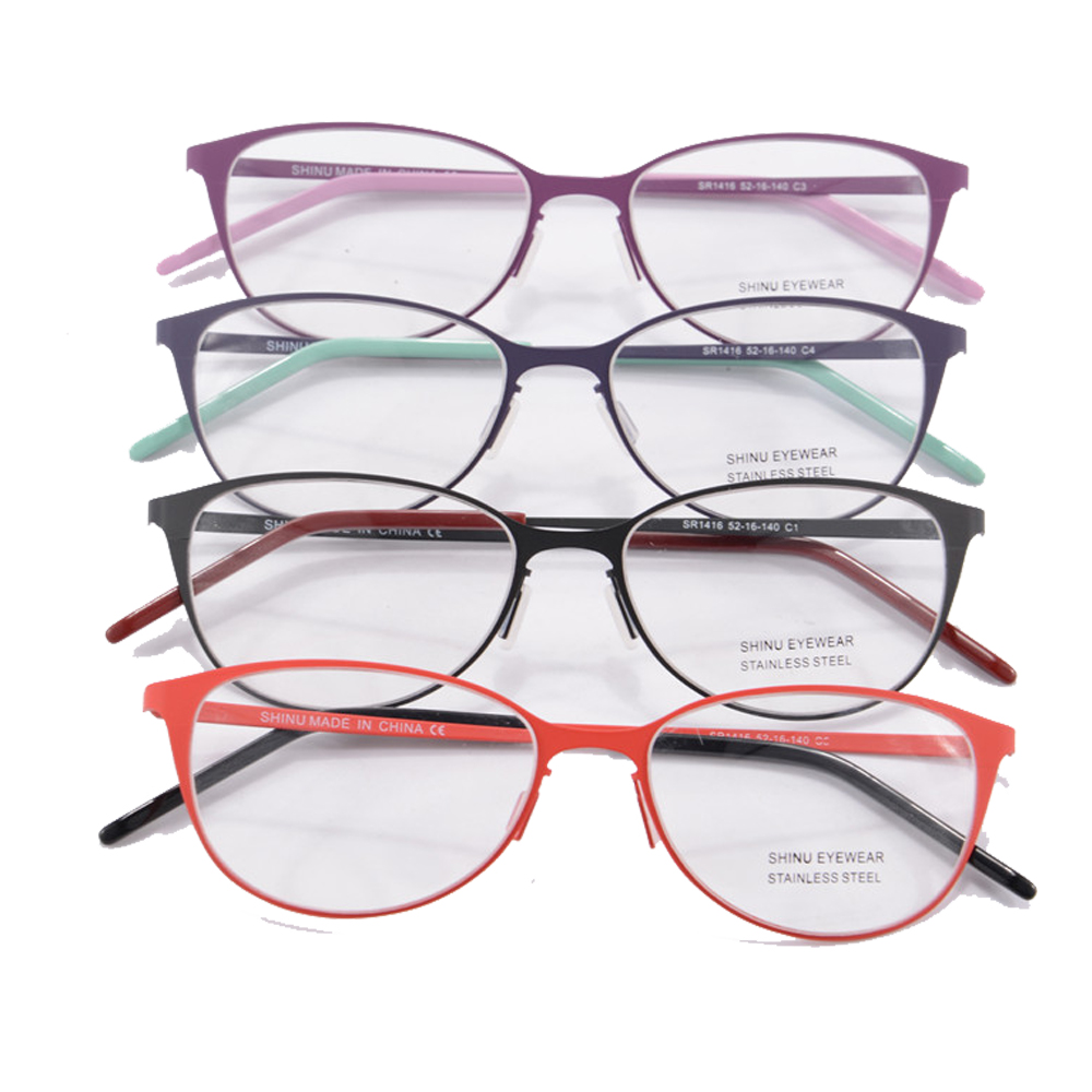 Eyeglass Frame Color For Asian : 4 colors eye glasses frames for women sport frame women ...