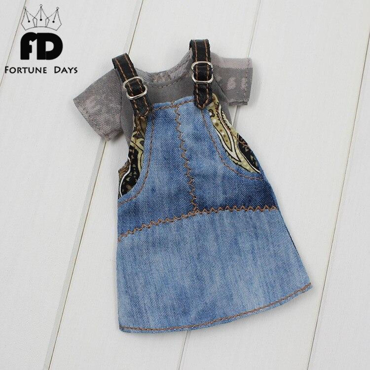 Free shipping Blyth Doll clothes Braces skirt T-shirt suit clothing недорго, оригинальная цена