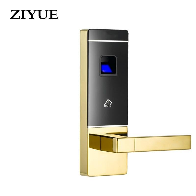 Intelligent Electronic Smart Home Door Lock  Fingerprint Biometric Door Lock with Mechanical Key and Fob Card Key intelligent zinc alloy multifunction home security door locks electronic smart lock