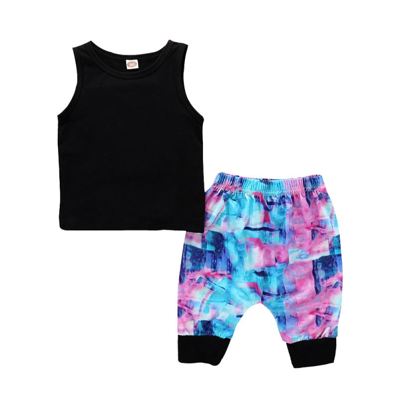 1-3T 2PCS Newly Fashion Summer Baby Girls Casual Clothes Set Childrens Shorts Suit Newborn Kids Suits Comfortable Sets