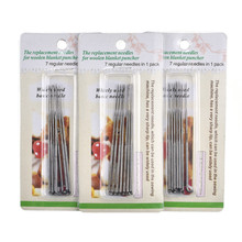 7 Pcs/Set 8cm Felting Needles Set Wool Felt Hand Craft Replacement Needle DIY Tools For Women Mom Gift