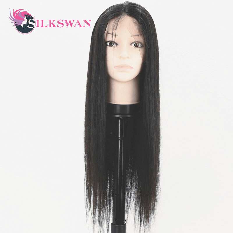 Silkswan Brazilian 13x4 Lace Front Human Hair Wigs Remy Hair Straight 10 24 Inch Lace Front